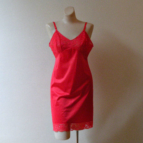 SALE! 60s Vanity Fair July Watermelon Mini Full Slip    36 - product image