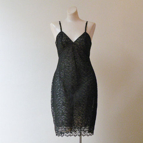 60s,My,Sin,Glydons,Black,Lace,Slip,36b,1960s, 60s, vintage, slip, full, Glydons, lace, chiffon, sheer, sexy, new, pin-up, pointy, sweetiepievintage, sweetie pie vintage