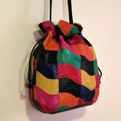 4208dea1dd 80s Pretty Patchwork Judi Simon Bucket Bag - Pretty Sweet Vintage