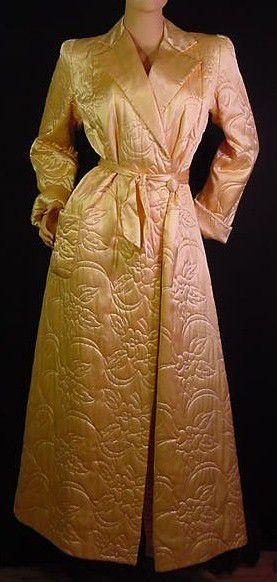 50s Movie Star Gold Robe Pretty Sweet Vintage