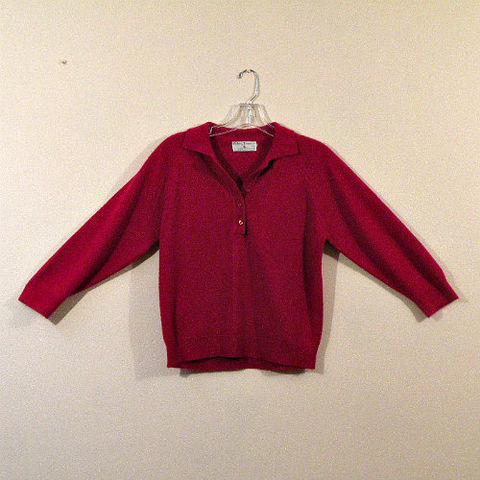 50s,Red,Hickory,House,Sweater,Girl,42b/38w,1950s, 50s, vintage, red, merlot, Hickory House, sweater girl, soft, cashmere, silky