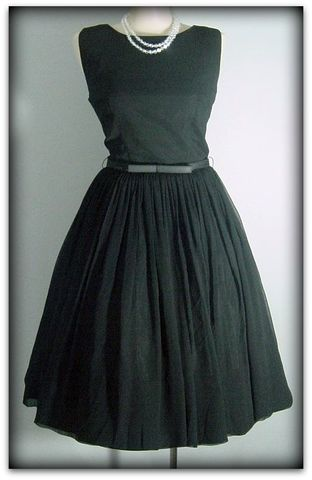 60s,Perfect,Little,Black,Dress,1960s, 60s, vintage, dress, cocktail, party, evening, chic, black, little, full skirt, elegant, sexy, Mad Men
