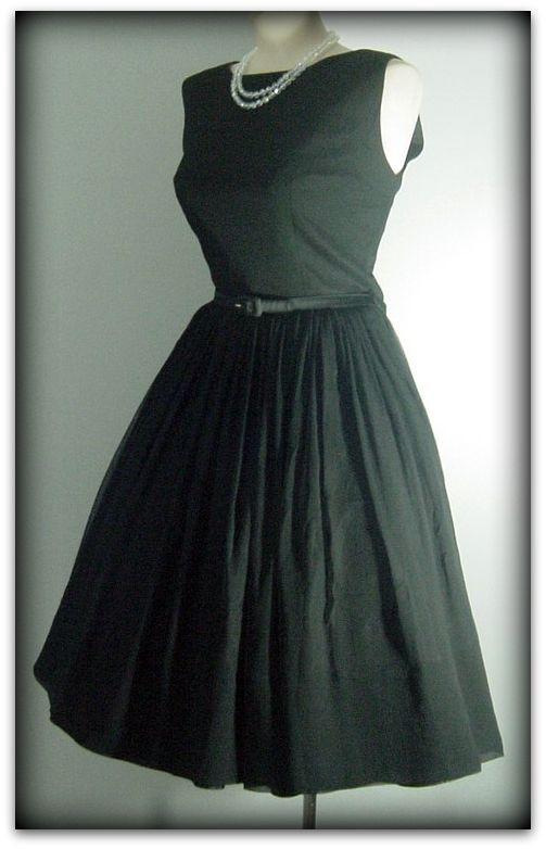 60s Perfect Little Black Dress Pretty Sweet Vintage