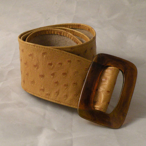 70s,Leather,Shop,Faux,Ostrich,and,Tortoise,Belt,27w,1970s, 70s, vintage, belt, accessory, leather, faux, ostrich, tortoise, shell, hippie, bohemian, Leather Shop, small