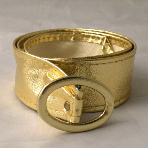 60s,Solid,Gold,Belt,Small,1950s, 50, 1960s, 60s, vintage, jewelry, belt, gold, vinyl, metallic, exotic, new, whimsical