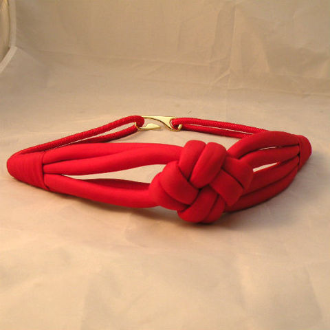 80s,Love,Knot,Belt,Small,28w,1980s, 80s, vintage, accessory, accessories, belt, stretch, red, love, knot, elastic, nylon, Taiwan