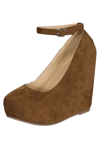 Downtown,Wedge,taupe seude wedge