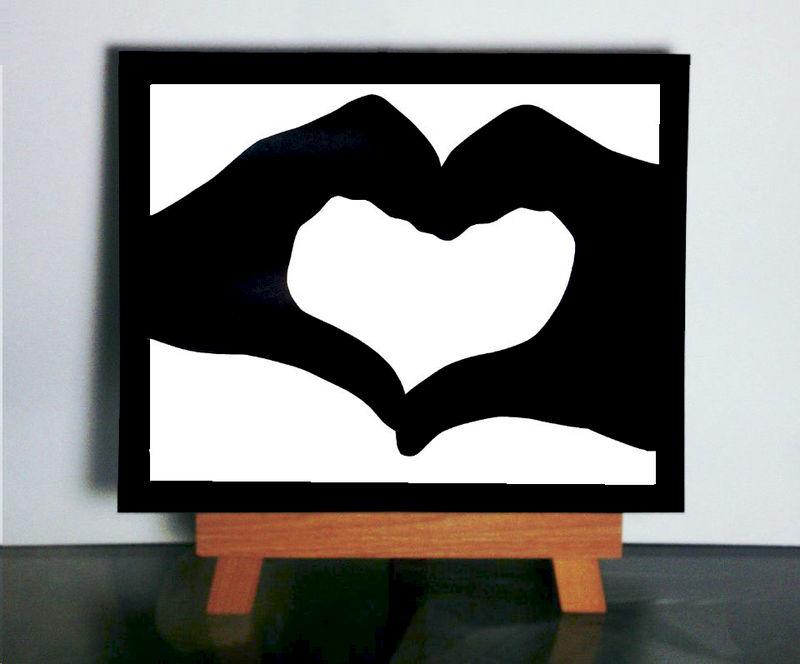 Heart Silhouette Love Paper Cutting Paper Silhouette