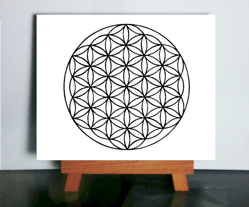 flower of life art sacred geometry art flower of life paper