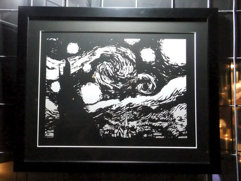 Gallery Size Paper Cutting Starry Night Statement Size