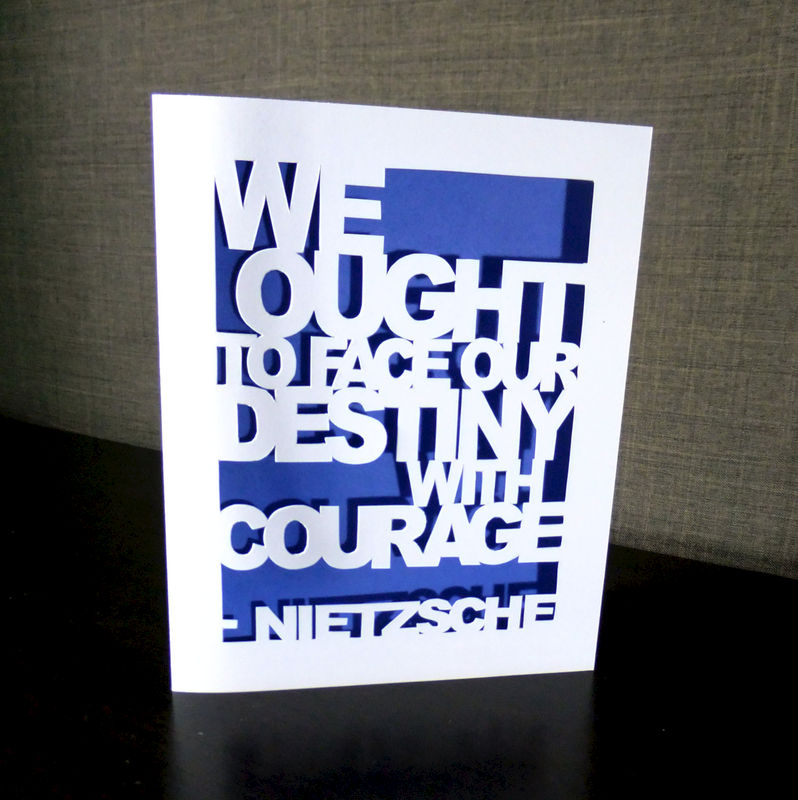 Nietzsche quote greeting card destiny courage thinking of you card nietzsche quote greeting card destiny courage thinking of you card handmade blue product image m4hsunfo