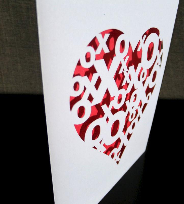 Hugs and kisses greeting card vibrant shadows paper art hugs and kisses greeting card product image m4hsunfo