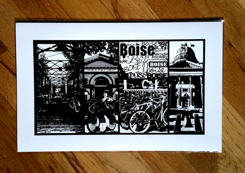 Boise Bicycle Friendly Community Print - product image