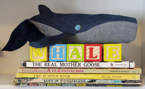 Vintage,Denim,Handmade,Plush,Humpback,Whale,Mama,humpback_whale,realistic,handmade_plushie,handmade_whale,plush_whale,denim_whale,whale,stuffed_animal,ocean,children,nursery_decor,nautical_nursery,denim_blue,repurposed_denim,nautical_baby_shower,vintage_denim,handmade,ecofriendly_toy,deni