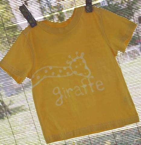 Tip,Top,the,giraffe,-,hand,dyed,t-shirt,original,design,front,and,back, kids shirt, giraffe, kids gift, safari