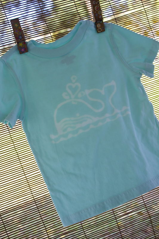 Josie the humpback whale - hand dyed t-shirt original design - product images  of