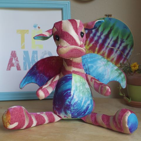Zoe,-,Handmade,Plush,Dragon,with,tie,dye,accents