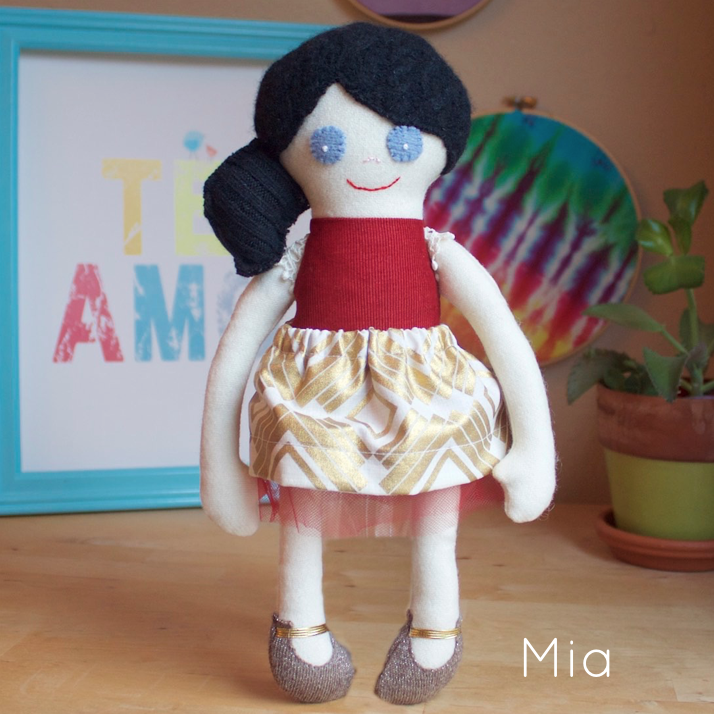 Small handcrafted doll - multiple variations available - product image