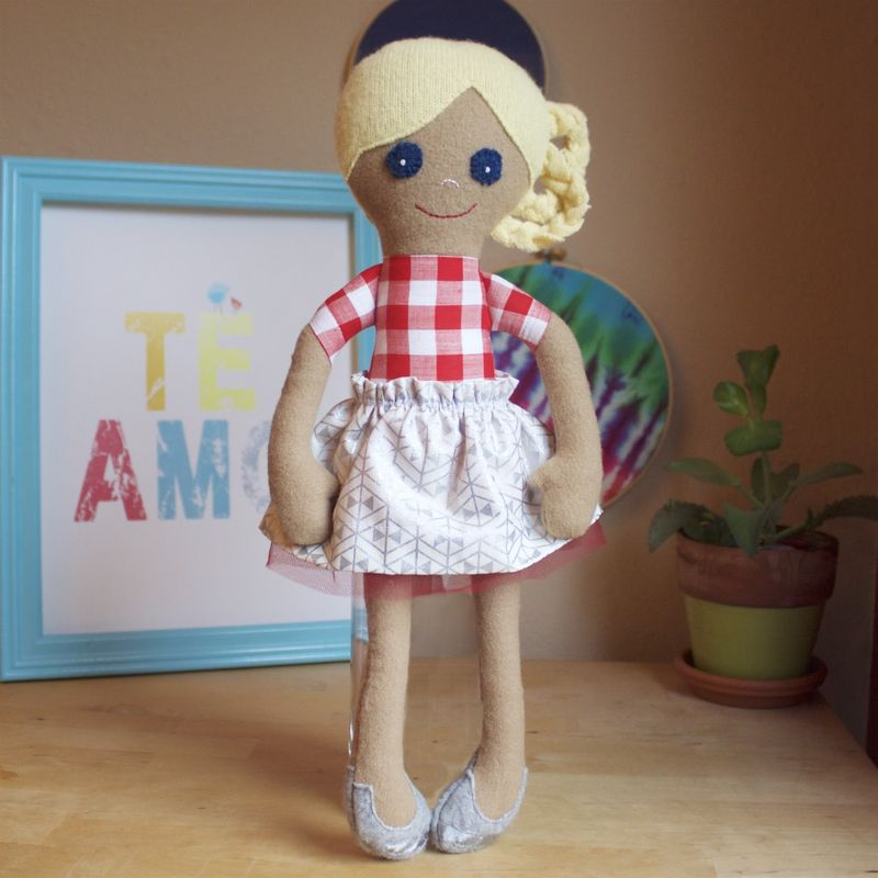 Diana - Large handcrafted doll - product image