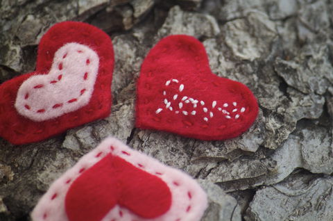 Valentine's,Day,Heart,Felt,Hair,Clips,-,Set,of,3,Valentines_day,heart,hair_clip,red,pink,love,for_her,children,romance