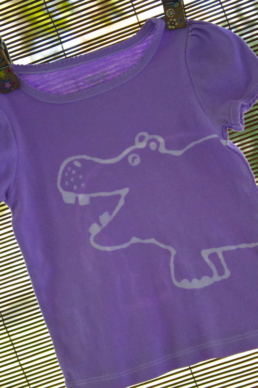 Hungry Hungry the Hippo - hand-dyed t-shirt original design front and back - multiple colors available - product images  of