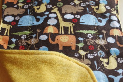 Animal,parade,brown,burp,cloth,Burp_cloth,spit_rag,prefold_diaper,diaper_cloth,baby_shower,baby_gift,hand_dyed,animal_safari,baby