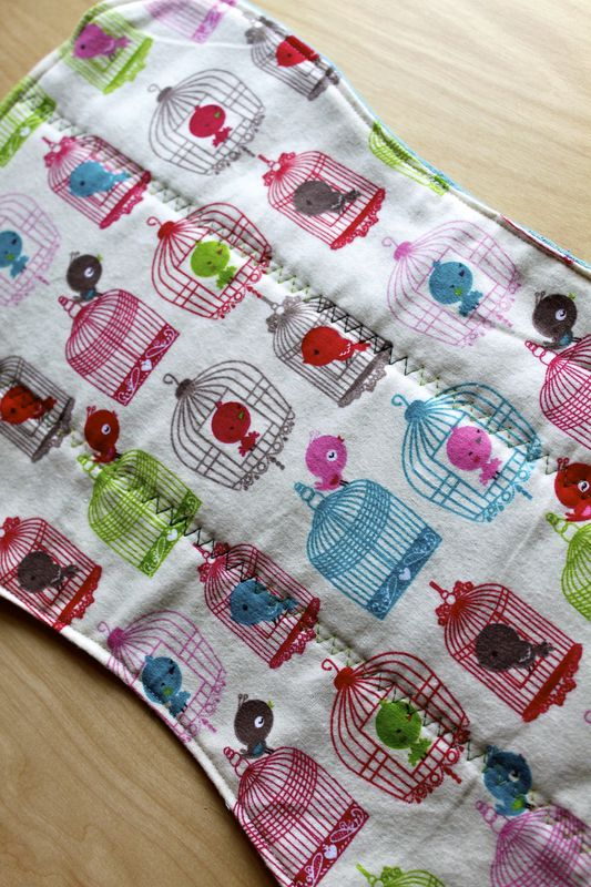 Bird burp cloth set of 2 - product images  of