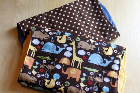 Animal,parade,brown,burp,cloth,set,of,2,Burp_cloth,spit_rag,prefold_diaper,diaper_cloth,baby_shower,baby_gift,hand_dyed,animal safari,polka_dots,baby