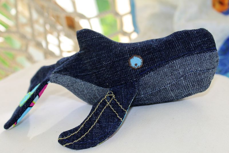 "LIMITED EDITION Handcrafted Baby Plush Humpback Whale ""Ballena"" - product images  of"