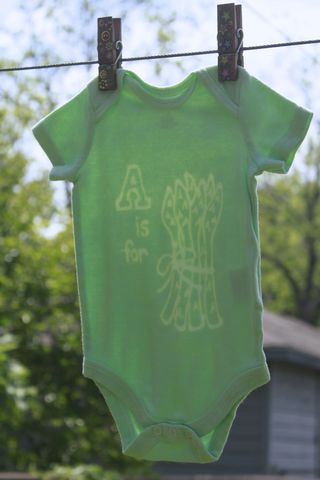 A,is,for,Asparagus,-,Green,hand,dyed,onesie,original,design,Children,Clothing,veggie,asparagus,vegan baby,hand dyed,dye resist,baby gifts,green,baby shower,cotton,procion mx dye