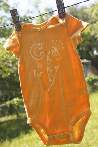 C,is,for,Carrot,-,Orange,hand,dyed,onesie,original,design,Children,Clothing,veggie,carrot,vegan baby,hand dyed,dye resist,baby gifts,green,baby shower,cotton,procion mx dye
