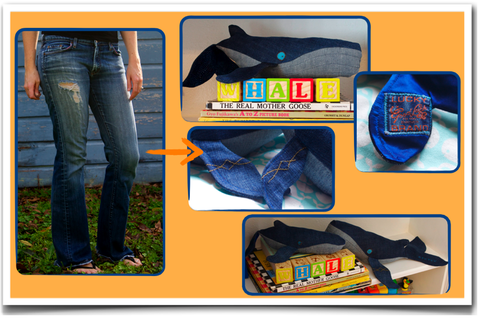 Custom,whale,from,your,favorite,jeans,-,One,repurposed_denim,humpback_whales,custom_stuffed_animal,vintage_denim,handmade,denim_love