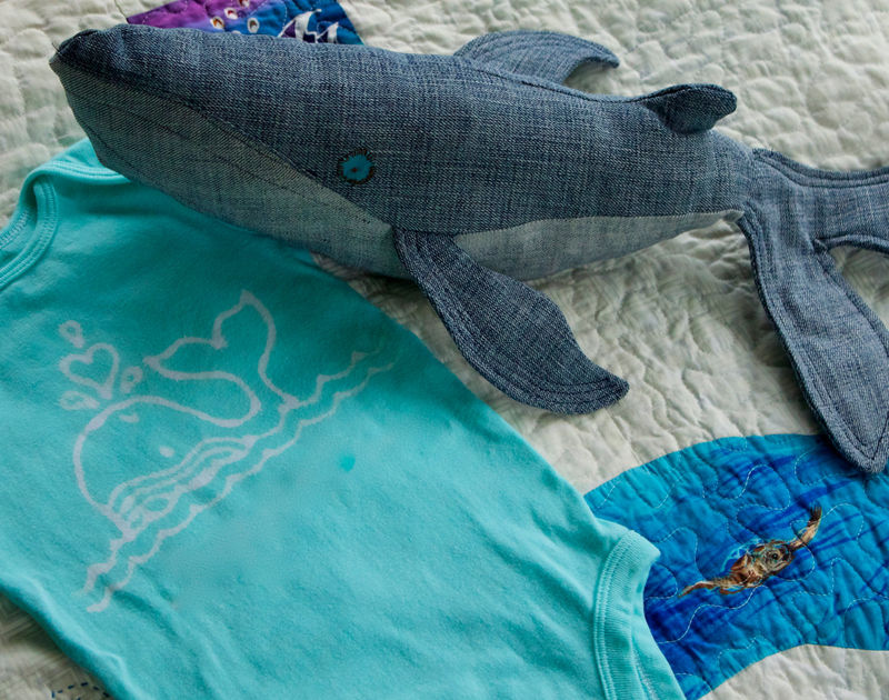 Whale gift set: Josie the Whale onesie and stuffed animal - product images  of