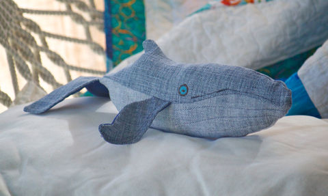 Handmade,Vintage,Denim,Plush,Humpback,Whale,Baby,Humpback whale, plush whale,nautical,whale,nursery_decor,kids_toys,repurposed_denim,baby_shower_gifts,Stocking_Stuffer,Christmas_gift,royal_blue,stuffed_whale,denim,nautical nursery, vintage_denim,cotton,embroidery_floss,polyfil,satin