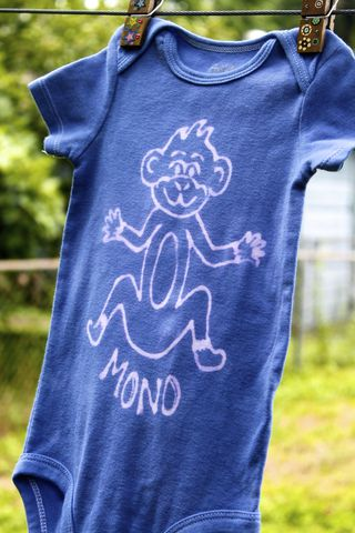 Mono/Monkey,-,hand,dyed,onesie,original,design,front,&,back,Children,Clothing,mono,monkey,hand_dyed,dye_resist,baby_gifts,baby_shower,tropical