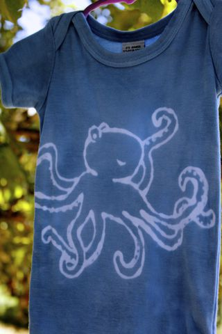 Octopus,-,hand,dyed,eco,friendly,bamboo,onesie,original,design,front,&,back,Children,Clothing,octopus,hand_dyed,eco friendly, earth friendly babydye_resist,baby_gifts,baby_shower,ocean