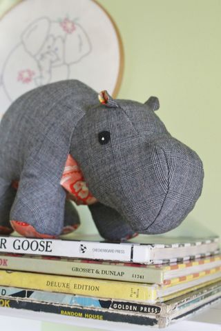 Winston,the,hippo,-,Limited,Edition,made,from,upcycled,wool,,silk,,and,cotton,vintage,repurposed,denim,plush_hippo,hippopotamus,realistic,kids_toys,baby_shower