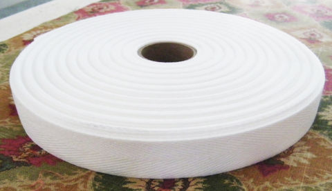 Heavy,Weight,White,100%,Cotton,Twill,Binding,Tape,Ribbon,USA,Made,Heavy Weight White 100% Cotton Twill Binding Tape Ribbon USA Made, cotton twill, cotton ribbon, binding tape, cotton binding ribbon