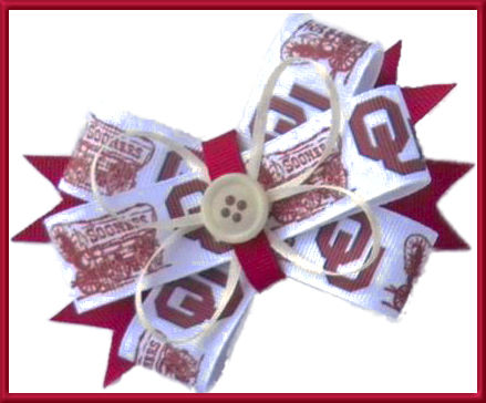 Oklahoma Sooners Grosgrain Ribbon - product image