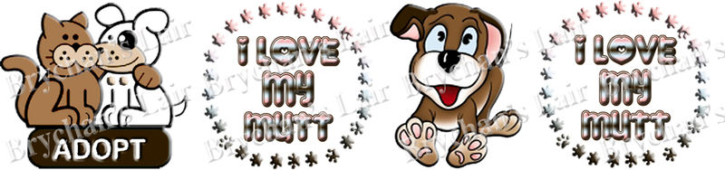 Pet Adoption I Love My Mutt USA Made Craft Supply Grosgrain Ribbon - product image