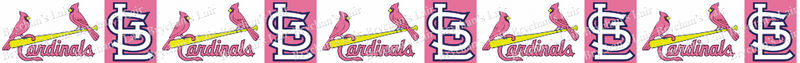 Saint Louis Cardinals PINK Grosgrain Ribbon - product image