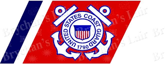 Coast Guard USA No1 Novelty Designer Craft Supply Grosgrain Ribbon - product image