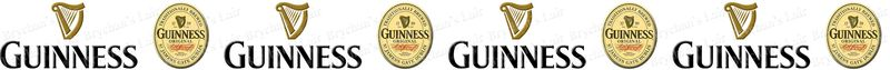 Guinness No2 Novelty Designer Craft Supply Grosgrain Ribbon - product image