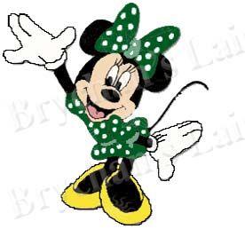 minnie mouse green polka dot dress craft supply grosgrain. Black Bedroom Furniture Sets. Home Design Ideas