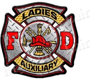 Lady's,Fire,Department,Auxiliary,Custom,Designer,Grosgrain,Ribbon,Lady's Fire Department Auxiliary Designer Custom Novelty Designer Grosgrain Ribbon, novelty craft ribbon, designer grosgrain ribbon, custom printed ribbon, usa made grosgrain ribbon