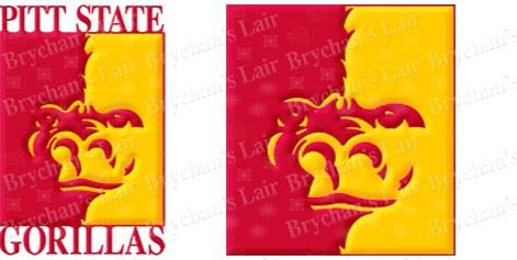 Pittsburgh,State,University,Gorillas,Custom,Design,Grosgrain,Ribbon,Pittsburgh State University Gorillas Custom Designed Grosgrain Ribbon, mlb grosgrain ribbon, nfl grosgrain ribbon, nba grosgrain ribbon, ncaa grosgrain ribbon, nhl grosgrain ribbon, custom printed grosgrain ribbon, designer grosgrain ribbon, team grosg