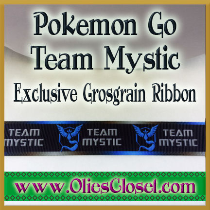Pokemon,Go,Team,Mystic,Olie's,Closet,Exclusive,Grosgrain,Ribbon,Pokemon Go Team Mystic Olies Closet Exclusive Grosgrain Ribbon