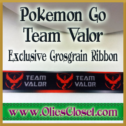 Pokemon,Go,Team,Valor,Olie's,Closet,Exclusive,Grosgrain,Ribbon,Pokemon Go Team Valor Olies Closet Exclusive Grosgrain Ribbon