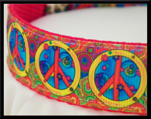 Retro,Psychedelic,Peace,Signs,Olie's,Closet,Exclusive,Grosgrain,Ribbon,Retro Psychedelic Peace Signs Olies Closet Exclusive Grosgrain Ribbon