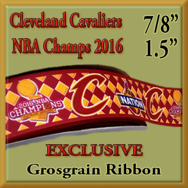 Cleveland,Cavaliers,Champion,Argyle,Olie's,Closet,Exclusive,Grosgrain,Ribbon,Cleveland Cavaliers Champions Argyle Olies Closet Exclusive Grosgrain Ribbon